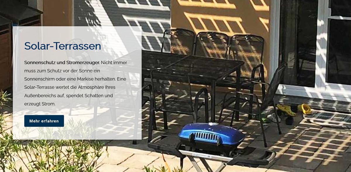 Helbig Solar Terrassen für  Großharthau