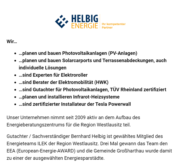 Solaranlagen & Photovoltaikanlagen in 01909 Frankenthal