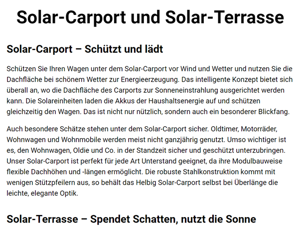 Solarcarports im Raum 01909 Großharthau